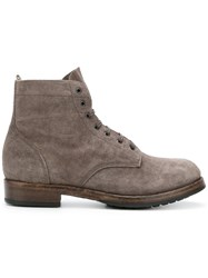 Officine Creative Lowry Boots Men Calf Leather Leather Rubber 40 Grey