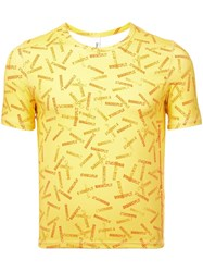 Adam Selman Banana Split T Shirt Yellow And Orange