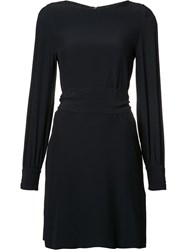 Vanessa Seward Slit Sleeve Dress Blue