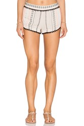 Gypsy 05 Cameo Embroidered Short Ivory