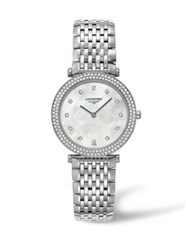 Longines La Grande Classique Diamond Mother Of Pearl And Stainless Steel Watch No Color