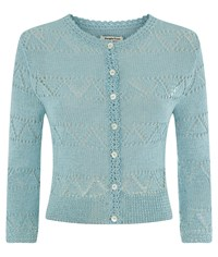 People Tree Kirstie Lace Cardigan Blue