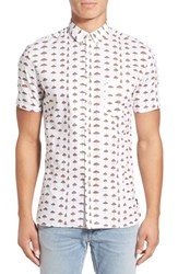 Barney Cools Men's 'Beach' Extra Trim Fit Short Sleeve Woven Print