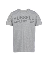Russell Athletic T Shirts Light Grey