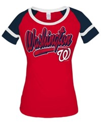 5Th And Ocean Women's Washington Nationals Homerun T Shirt Navy