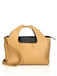 The Row Leather Two For One 12 Bag Tan Black