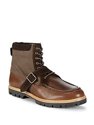 Ben Sherman Head Start Leather Ankle Boots Brown