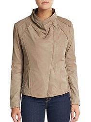 Elie Tahari Claudette Knit Paneled Jacket Mink