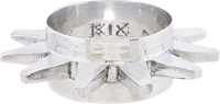 Ktz Silver Spoke Spike Cuff