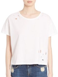 Sundry Textured Loose Fit T Shirt White
