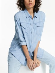 And Or Hadley Lyocell Shirt Light Blue