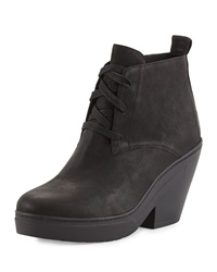 Tug Desert Wedge Boot Black Eileen Fisher