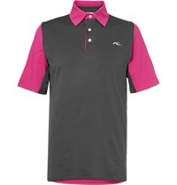 Kjus Golf Superload Stretch Shell Polo Shirt Pink