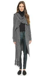 Thakoon Scarf Tie Cardigan Charcoal Black