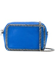 Stella Mccartney Falabella Zip Crossbody Bag Blue