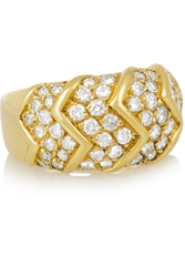 Fred Leighton Vintage Van Cleef And Arpels 1970S 18 Karat Gold Diamond Ring