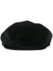 Dolce And Gabbana Velvet Beret Black