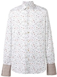 Paul Smith Floral Print Shirt White