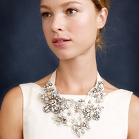 J.Crew Crystal And Flower Bib Necklace