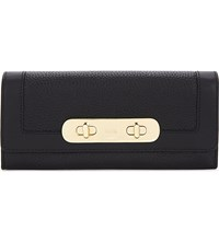 Coach Swagger Leather Wallet Li Black