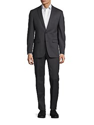 Michael Kors Wool Blend Suit Charcoal