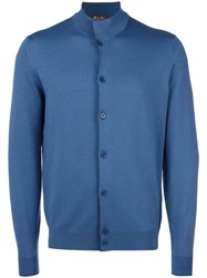 Loro Piana Knitted Bomber Jacket Blue