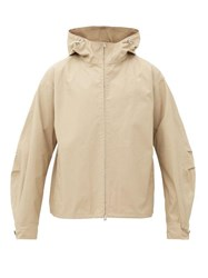 Joseph Marc Cotton Twill Hooded Windbreaker Jacket Beige