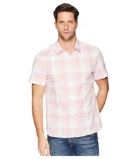Perry Ellis Essential Plaid Pattern Shirt Himalayan Pink Clothing