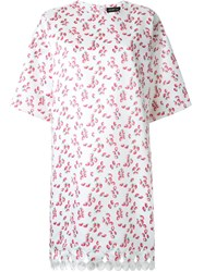Dresscamp Strawberry Print T Shirt Dress White