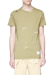 The Editor Contrast Stitch T Shirt Green