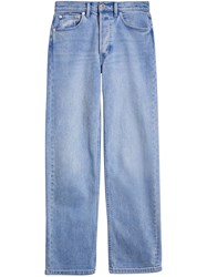 Burberry Straight Fit Stonewashed Jeans Blue