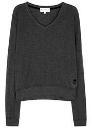 Wildfox Couture Baggy Beach Charcoal Jersey Sweatshirt Black
