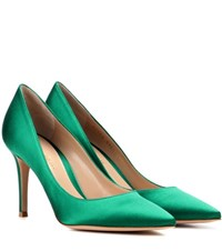 Gianvito Rossi 85 Satin Pumps Green
