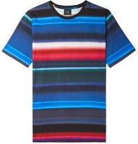 Paul Smith Ps Striped Cotton Jersey T Shirt Blue