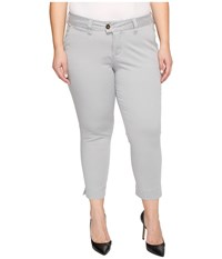 Jag Jeans Plus Size Creston Ankle Crop In Bay Twill Shadow Women's Casual Pants Brown