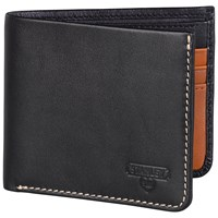 Stanley Bi Fold Leather Wallet Black