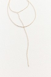 Urban Outfitters Zari Delicate Chain Lariat Necklace Gold