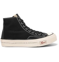 Visvim Skagway Leather Trimmed Canvas High Top Sneakers Black