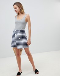 Mango Double Breasted Check Skirt In Multi