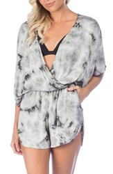 Green Dragon Crystal Forest Eliza Cover Up Romper Charcoal