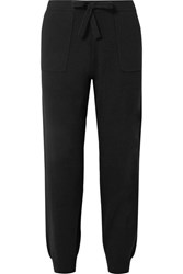 Allude Wool And Cashmere Blend Track Pants Black Gbp