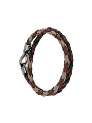 Tod's Braided Bracelet Brown