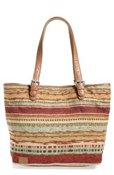 Toms 'Vacationer' Stripe Woven Tote
