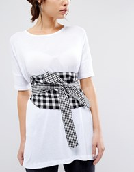 Asos Gingham Obi Belt Multi