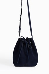 Mansur Gavriel Suede Mini Bucket Bag Navy