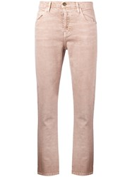 Current Elliott The Slouchy Skinny Jeans Pink Purple