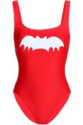 Zoe Karssen Printed Swimsuit Tomato Red