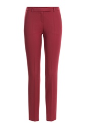 Hugo Virgin Wool Pants Red