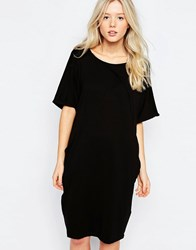 B.Young Short Sleeve Jersey Dress Black