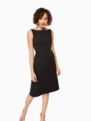 Kate Spade V Back Structured Dress Black